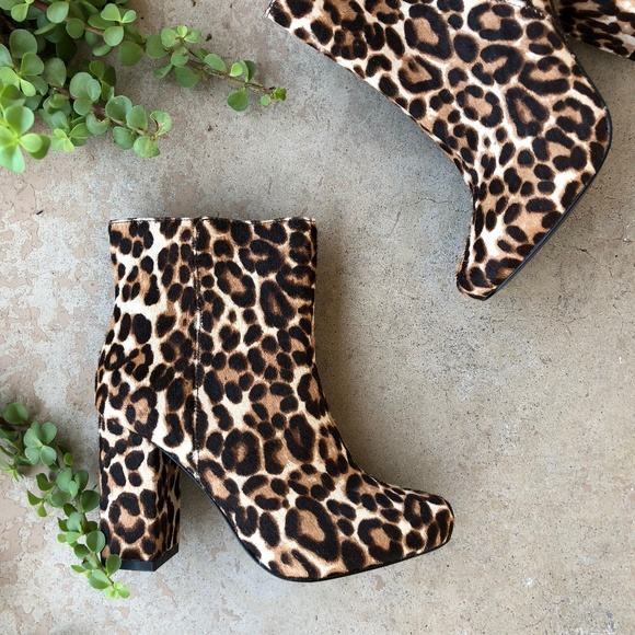 Charles David Studio Leopard Print Calf